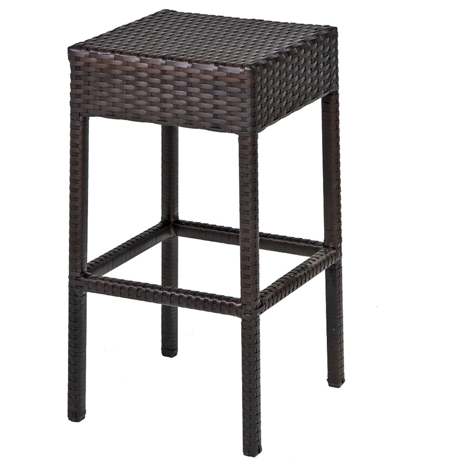 Tk Classics Napa Bar Table Set With Backless Barstools