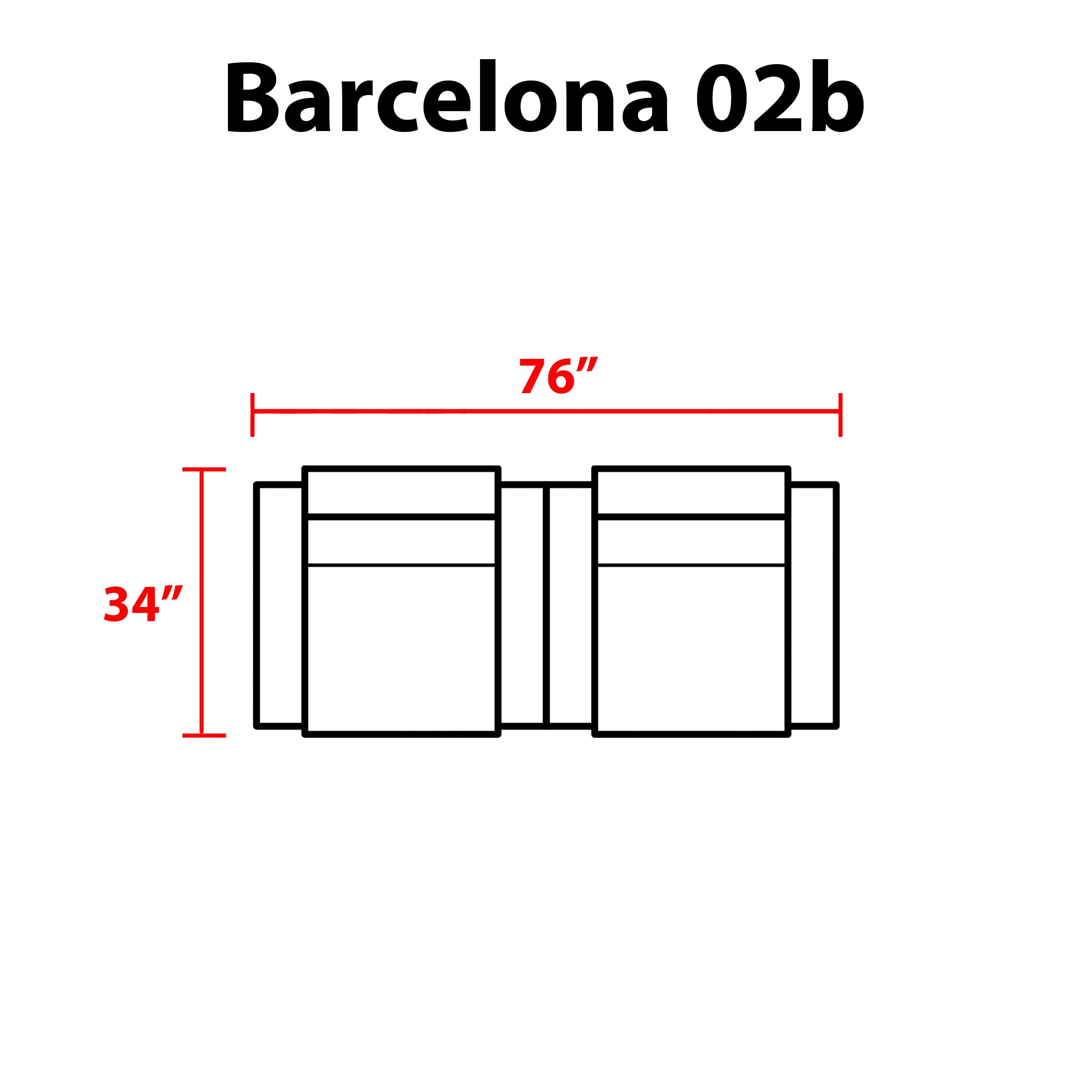 Barcelona 2 Piece Outdoor Wicker Patio Furniture Set 02b - TK Classics