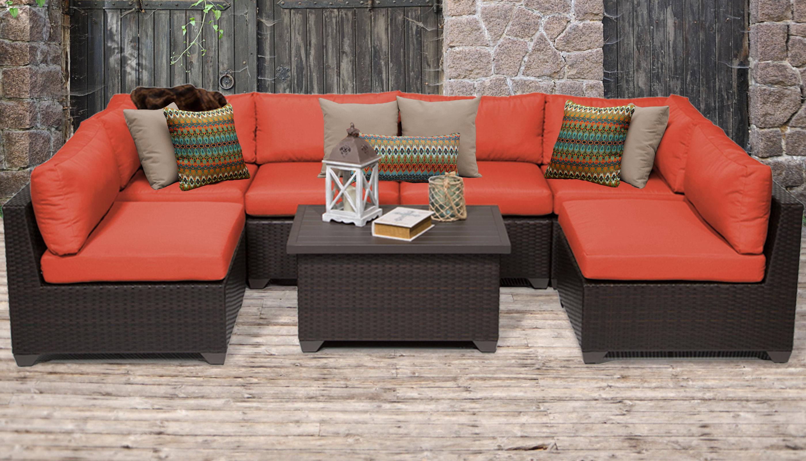 Belle 7 Piece Outdoor Wicker Patio Furniture Set 07a