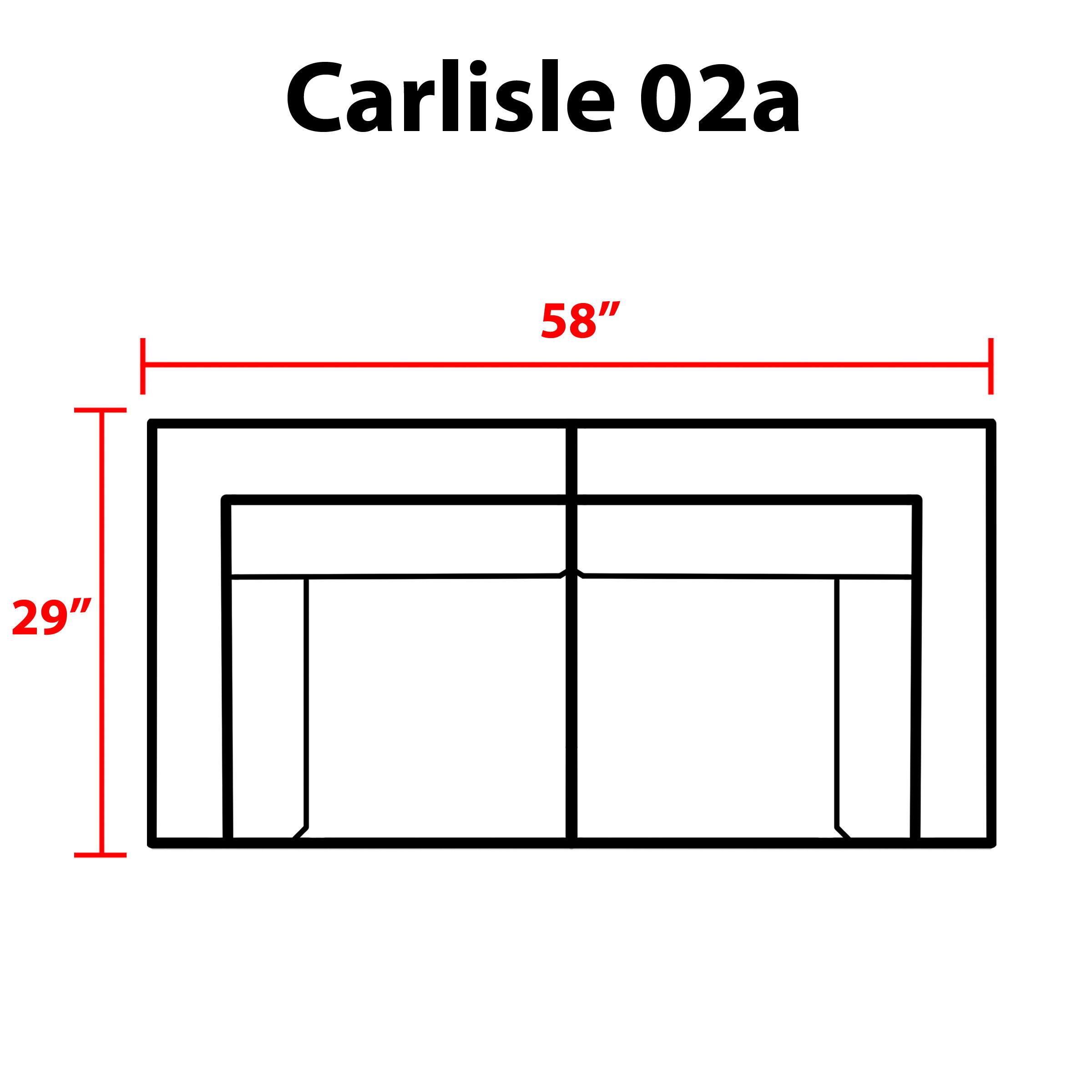 Carlisle 2 Piece Outdoor Wicker Patio Furniture Set 02a - TK Classics