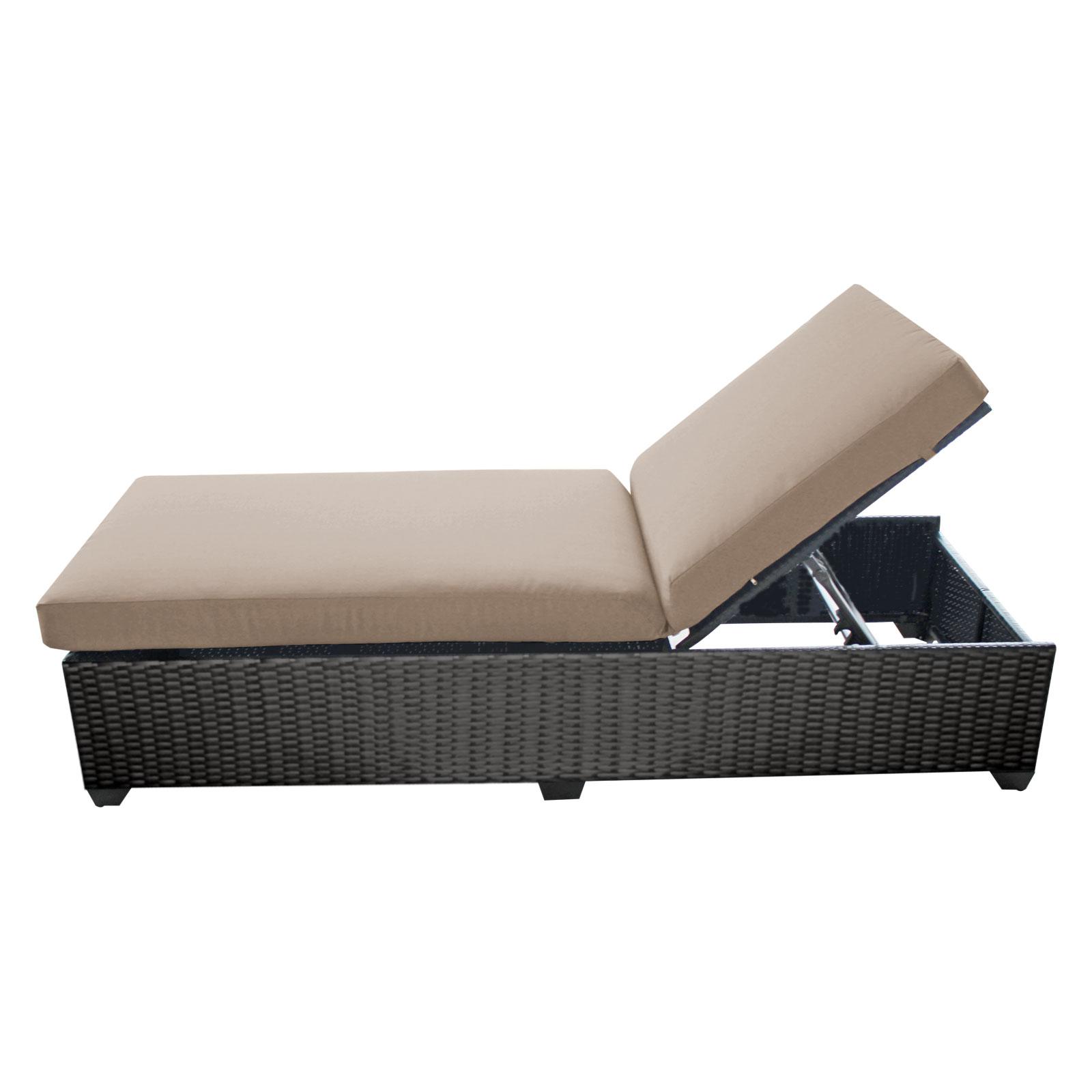 Tk classics classic chaise outdoor wicker patio furniture - Chaise classique design ...