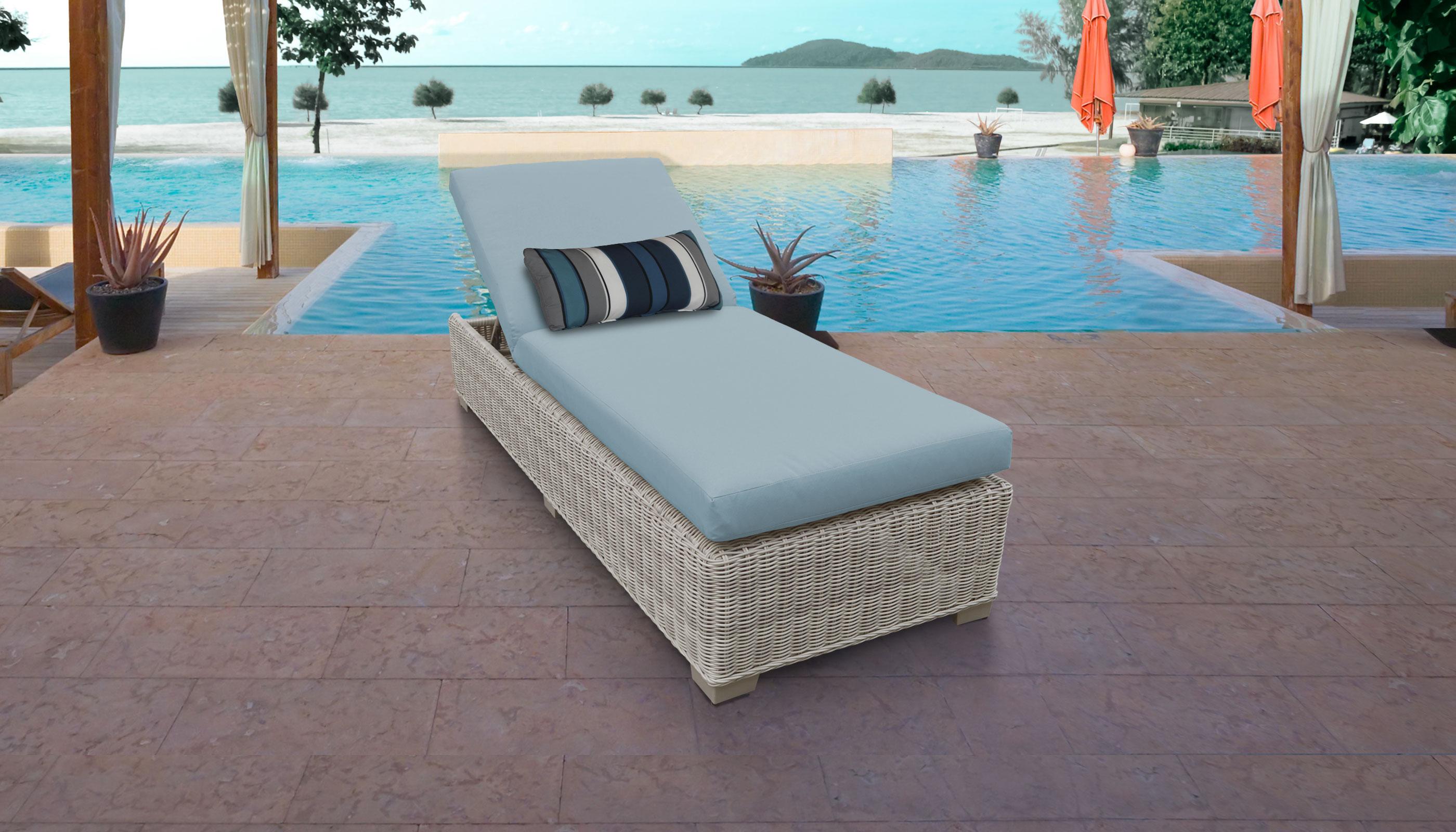 Spa Coast Chaise Outdoor Wicker Patio Furniture Tk Clics