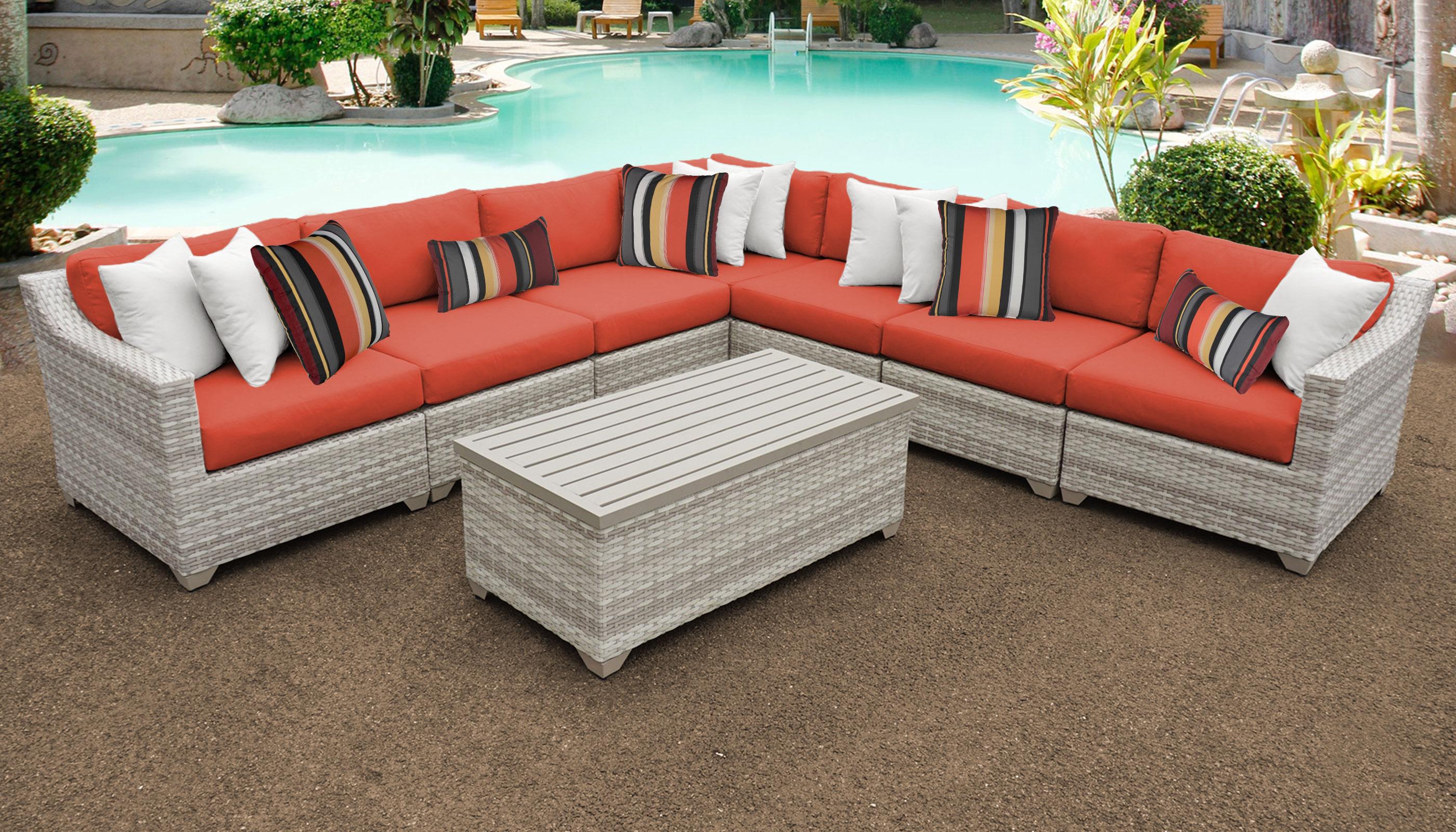 Fairmont 8 Piece Outdoor Wicker Patio Furniture Set 08a