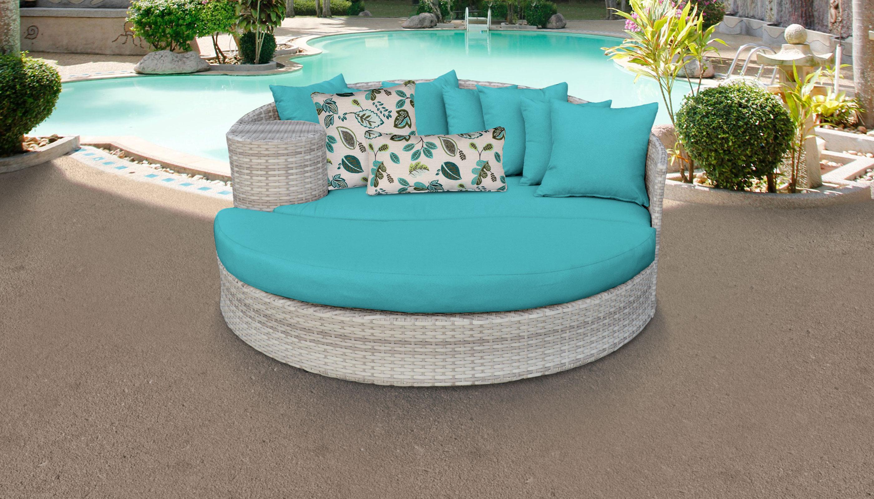 Fairmont Circular Sun Bed Outdoor Wicker Patio Furniture