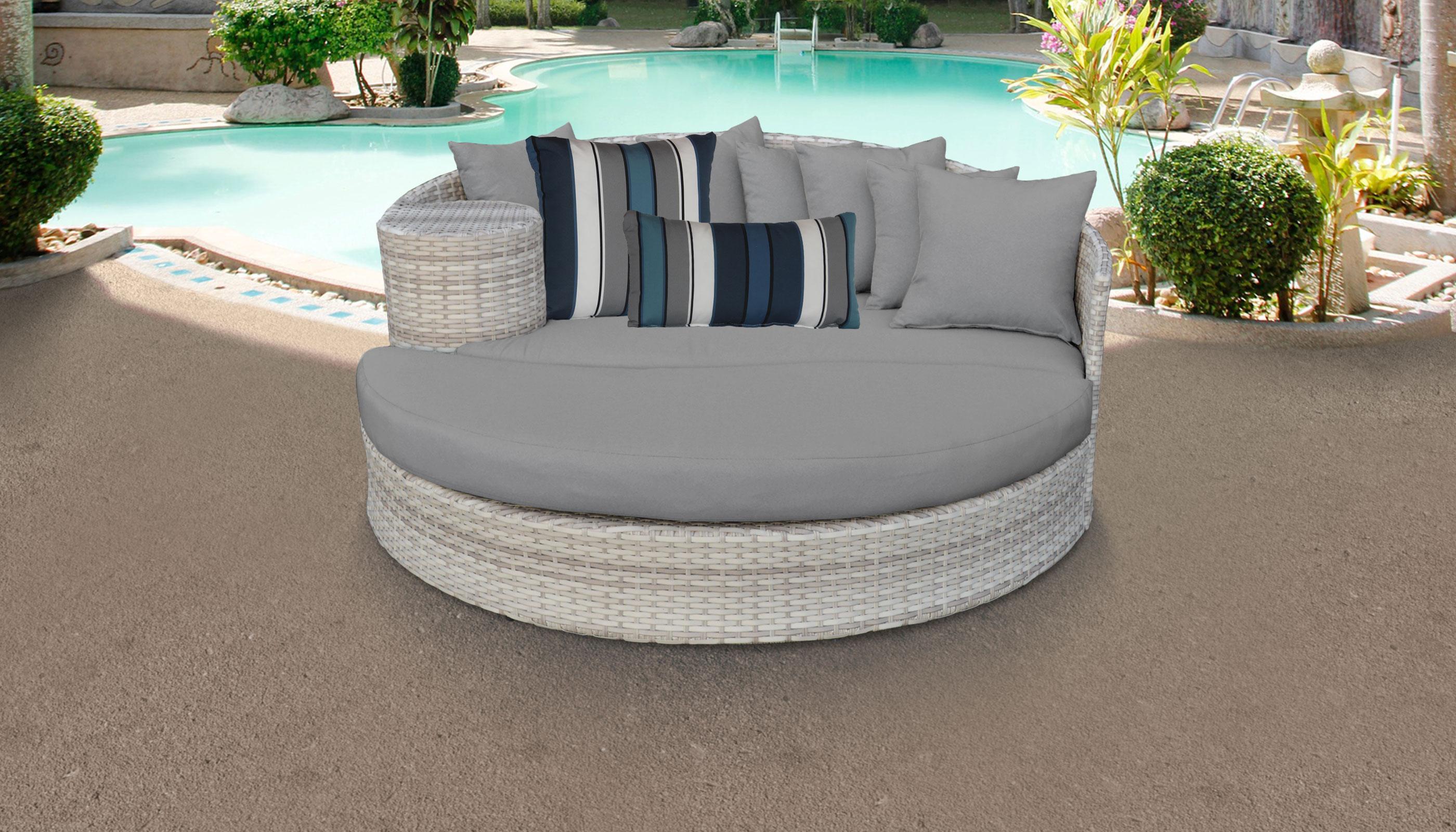 classics fairmont circular sun bed outdoor wicker patio furniture