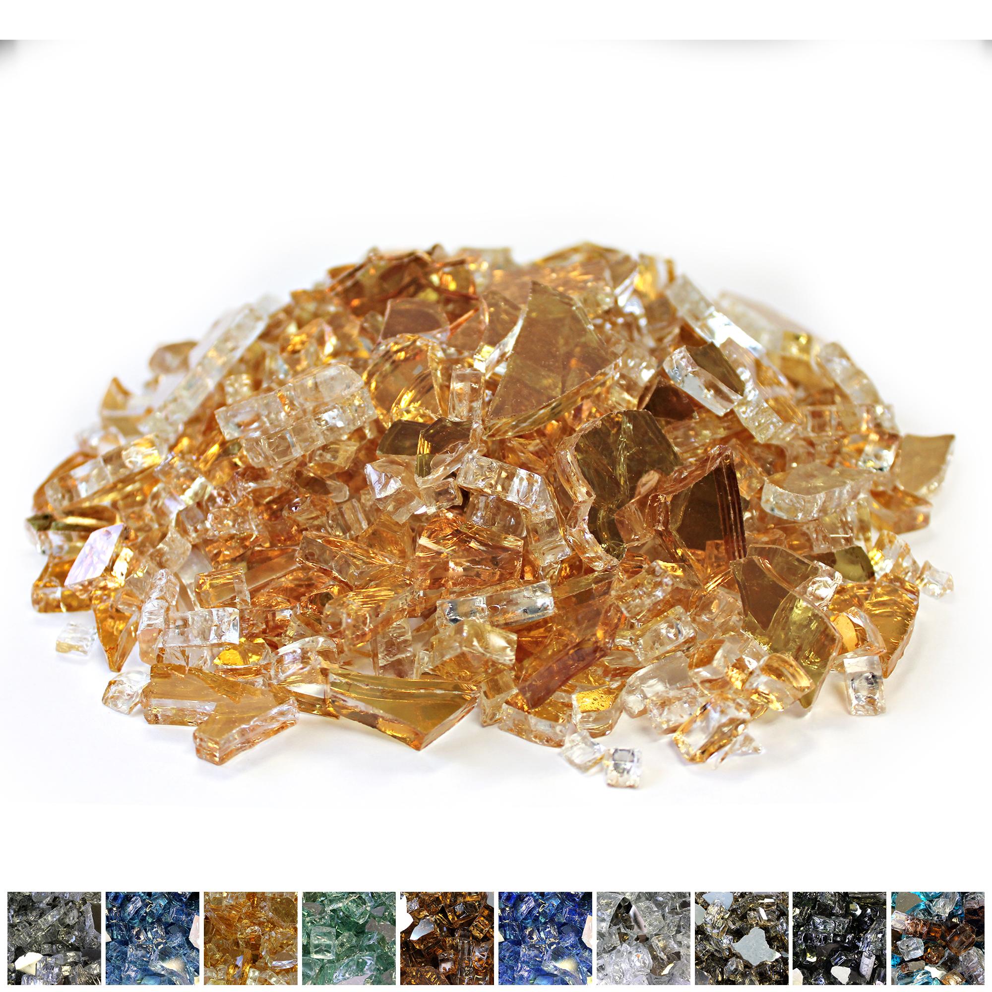 Gold 1/4 Reflective Fireglass - 10 lb bag -