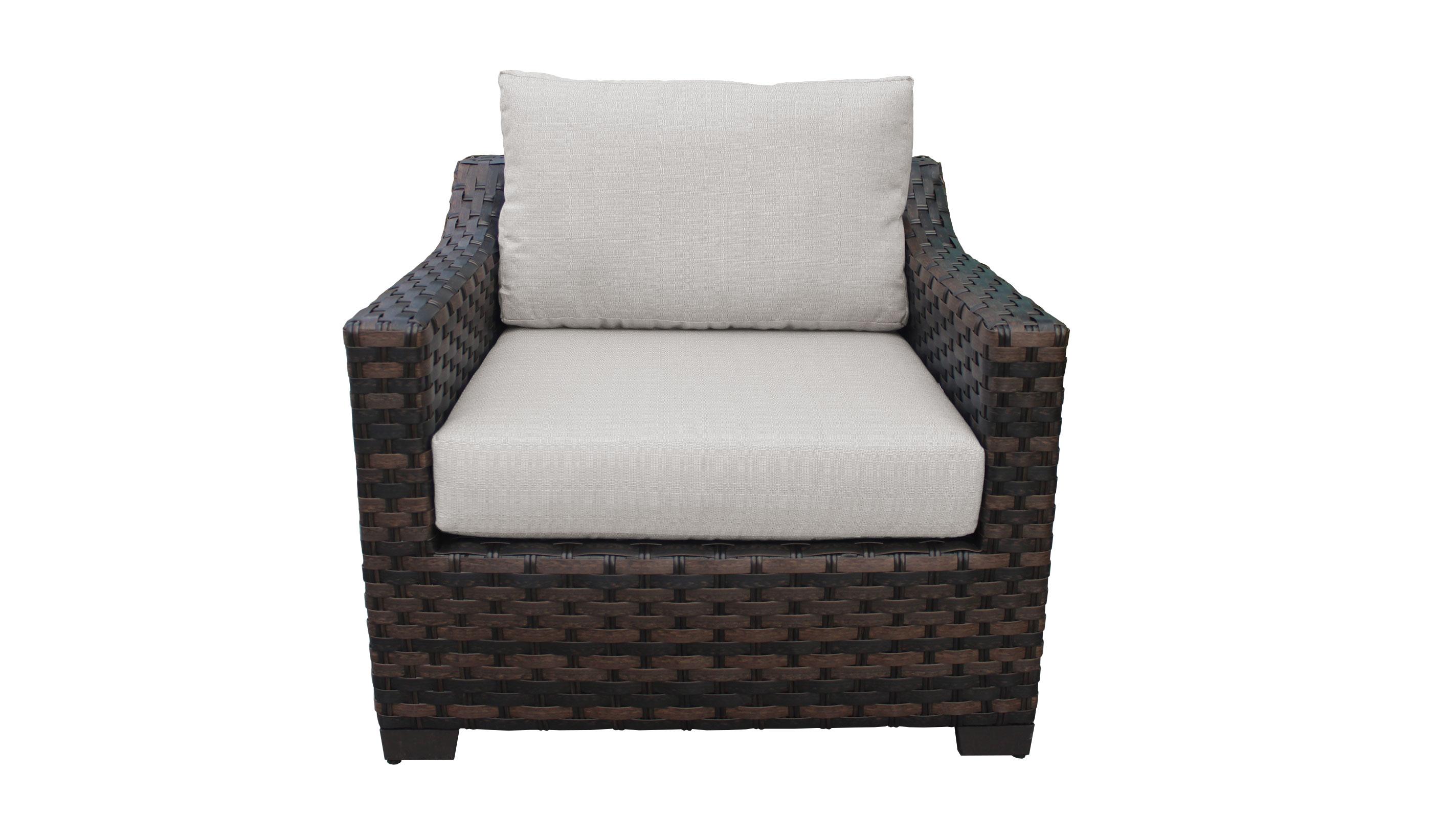 River Brook 2 Piece Outdoor Wicker Patio Furniture Set 02b - TK Classics
