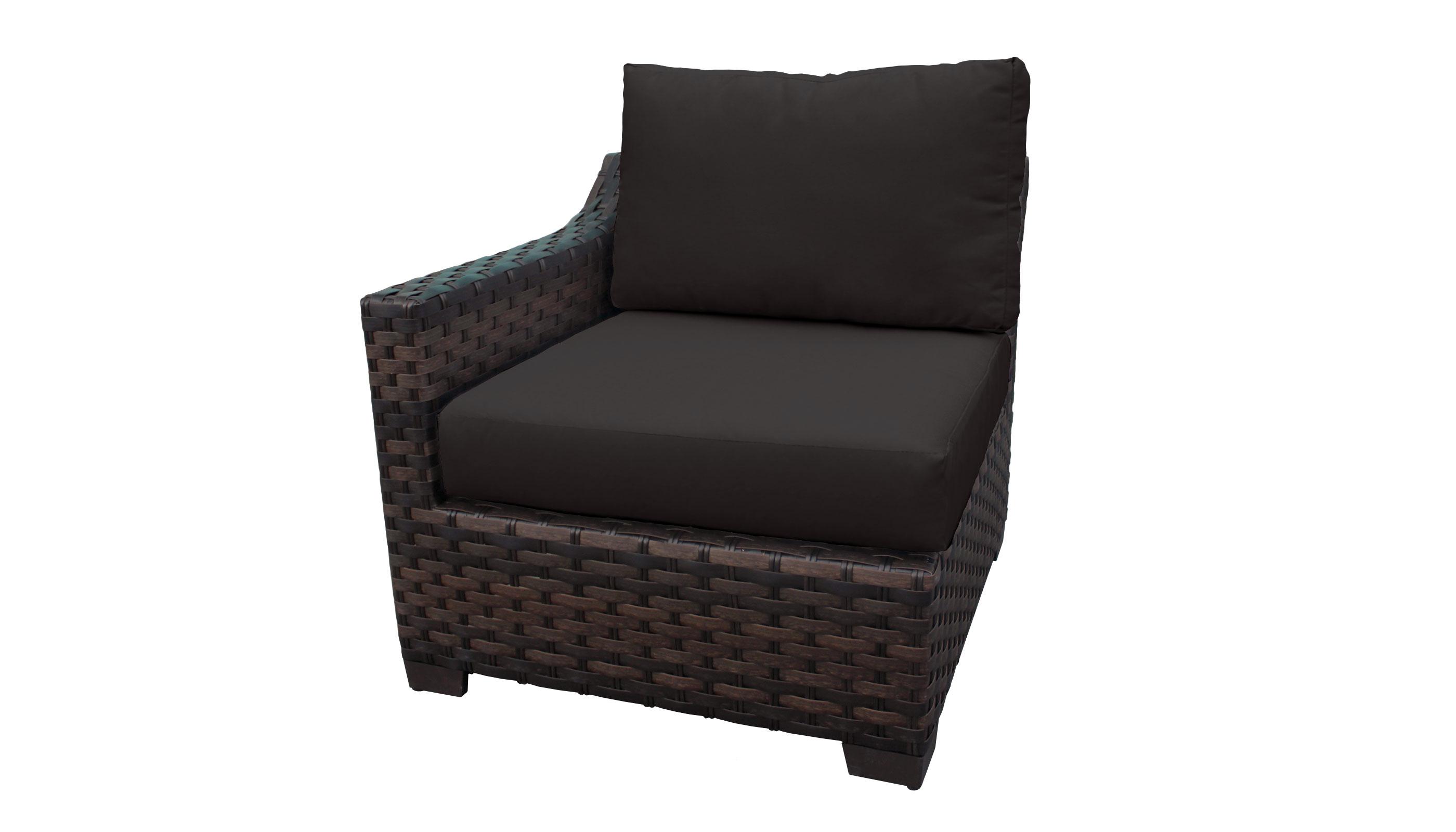 River Brook 3 Piece Outdoor Wicker Patio Furniture Set 03c - TK Classics
