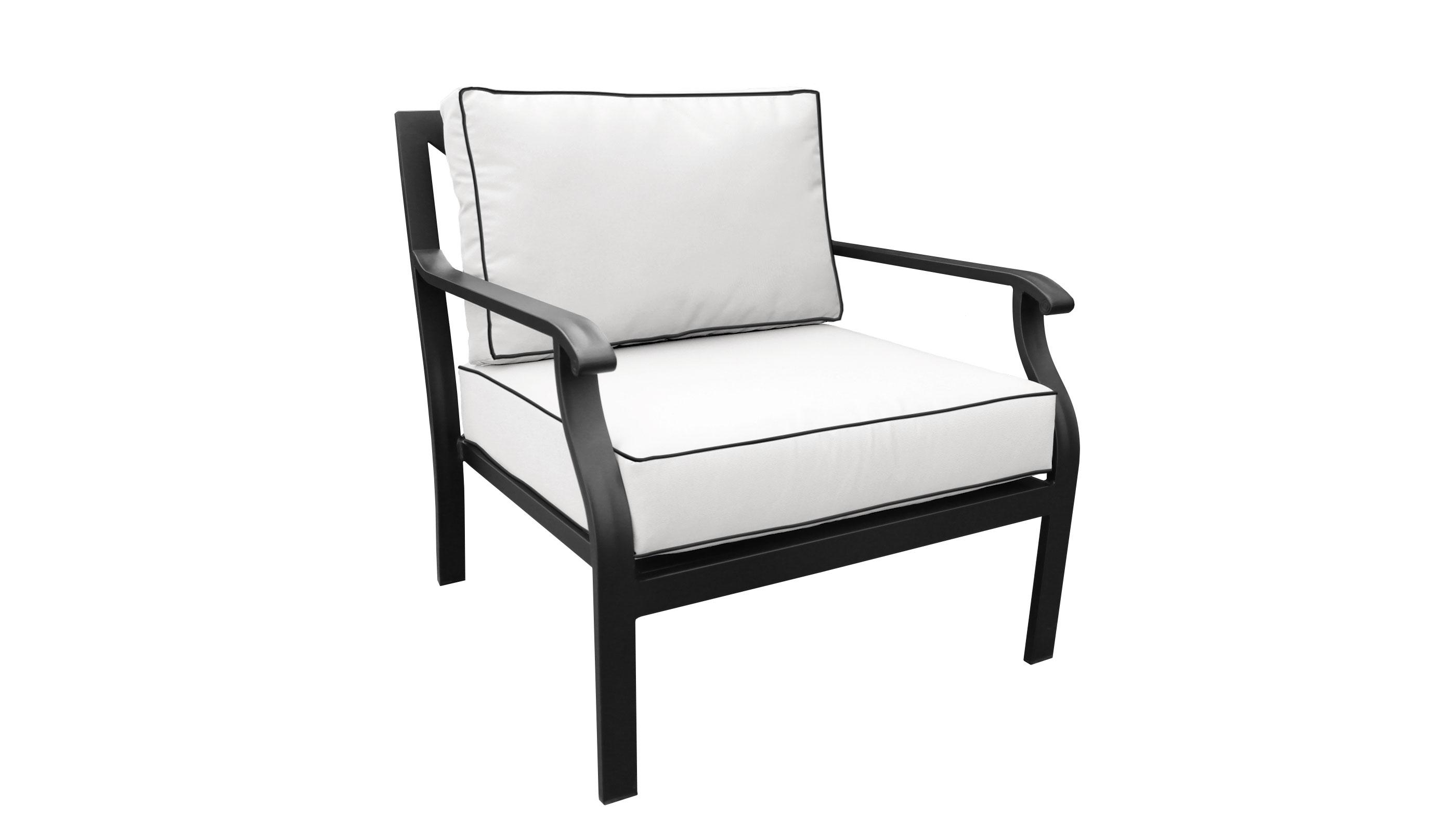 kathy ireland Homes & Gardens Madison Ave. 2 Piece Outdoor Aluminum Patio Furniture Set 02b - TK Classics