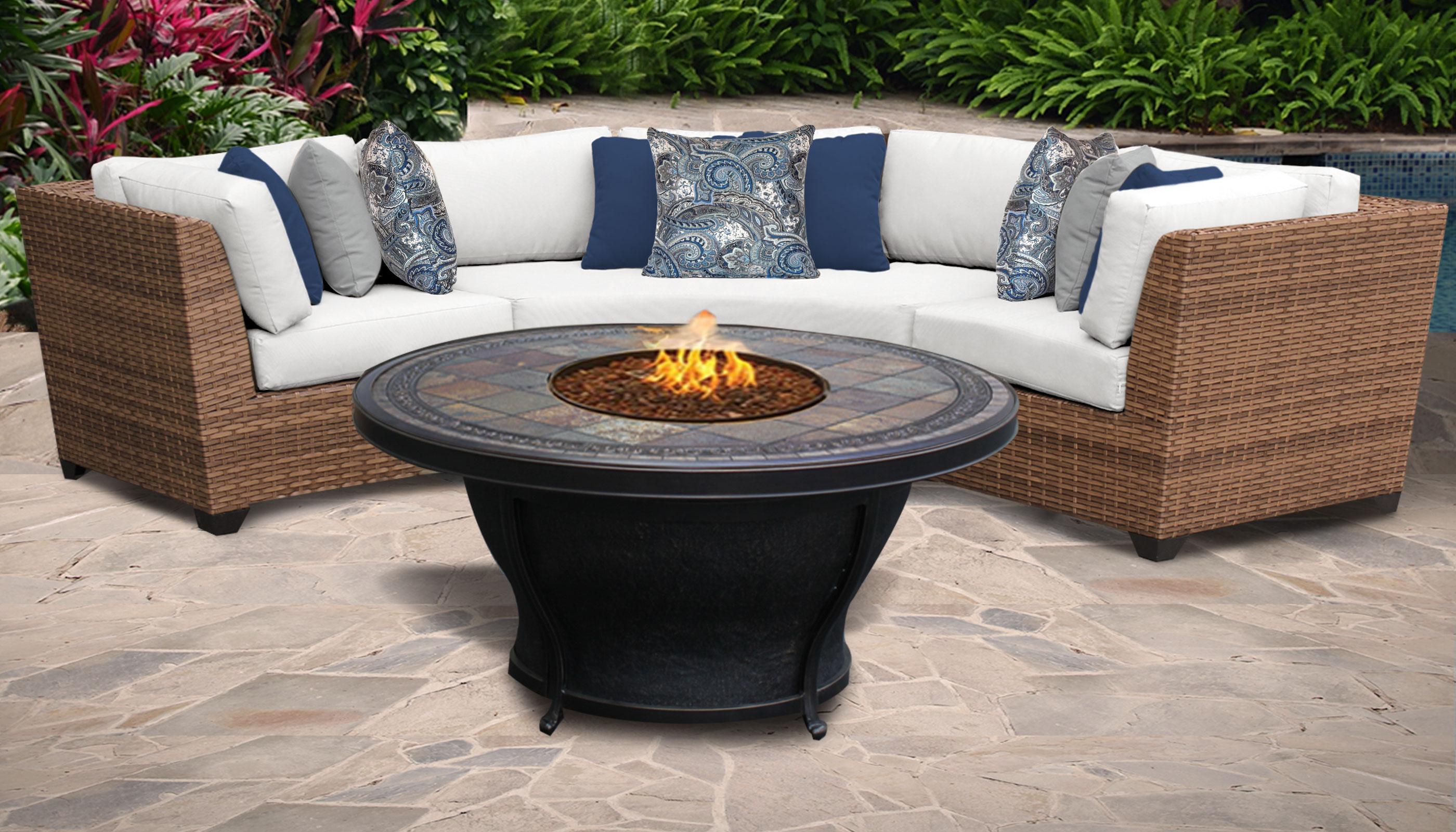 Laguna 4 Piece Outdoor Wicker Patio Furniture Set 04d