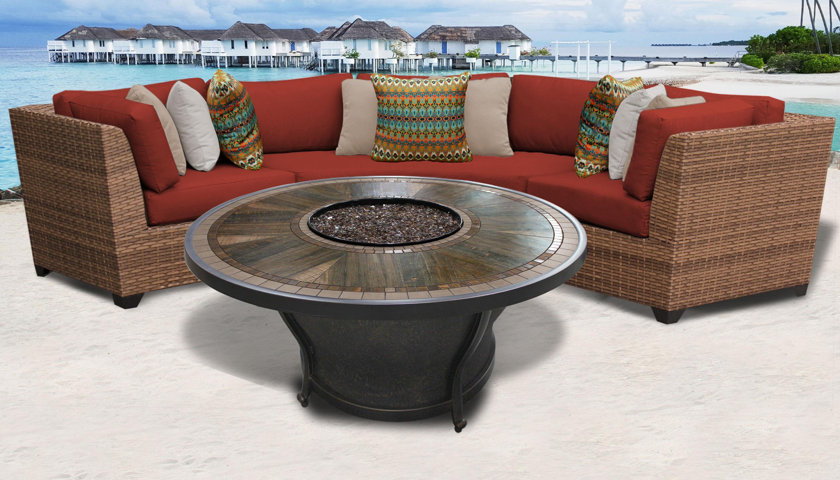 Laguna 4 Piece Outdoor Wicker Patio Furniture Set 04h