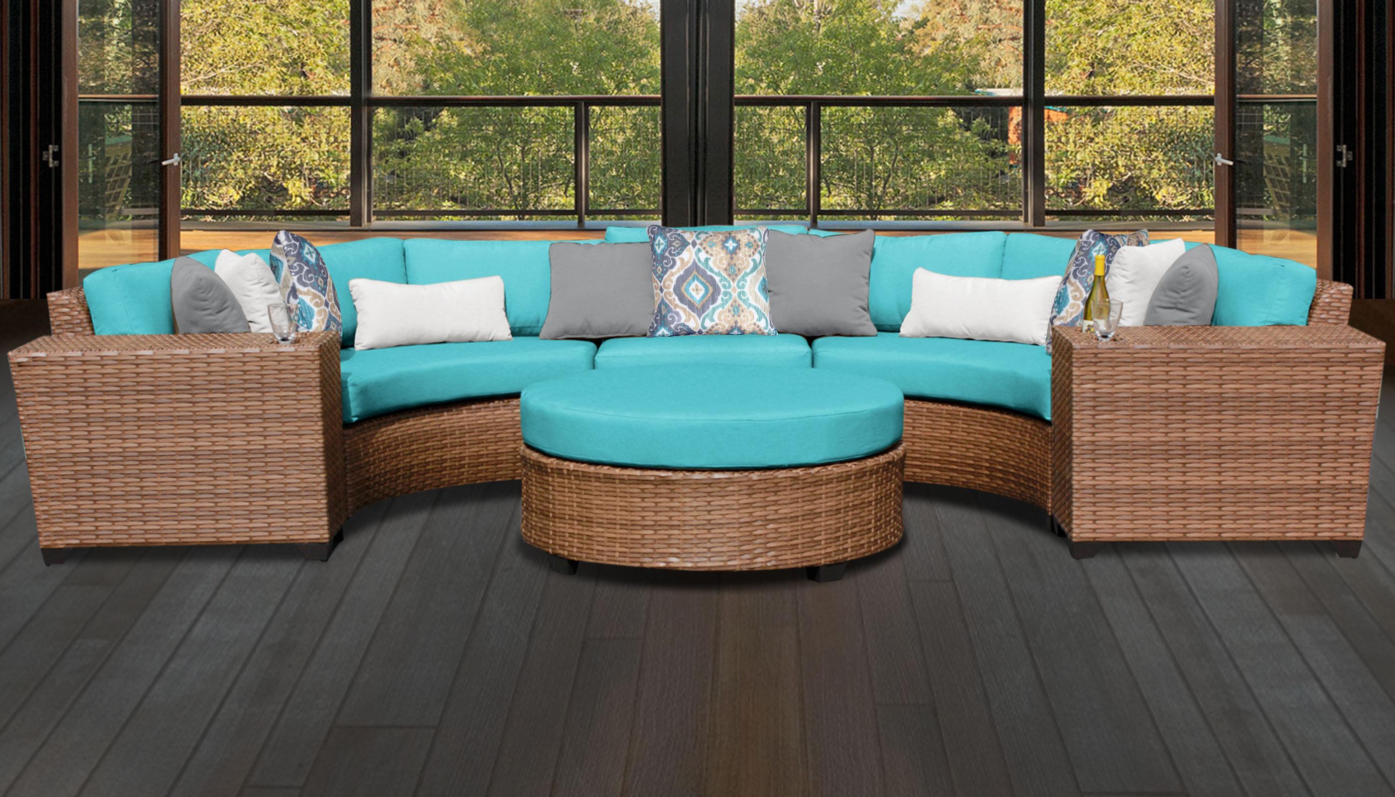 Laguna 6 Piece Outdoor Wicker Patio Furniture Set 06c
