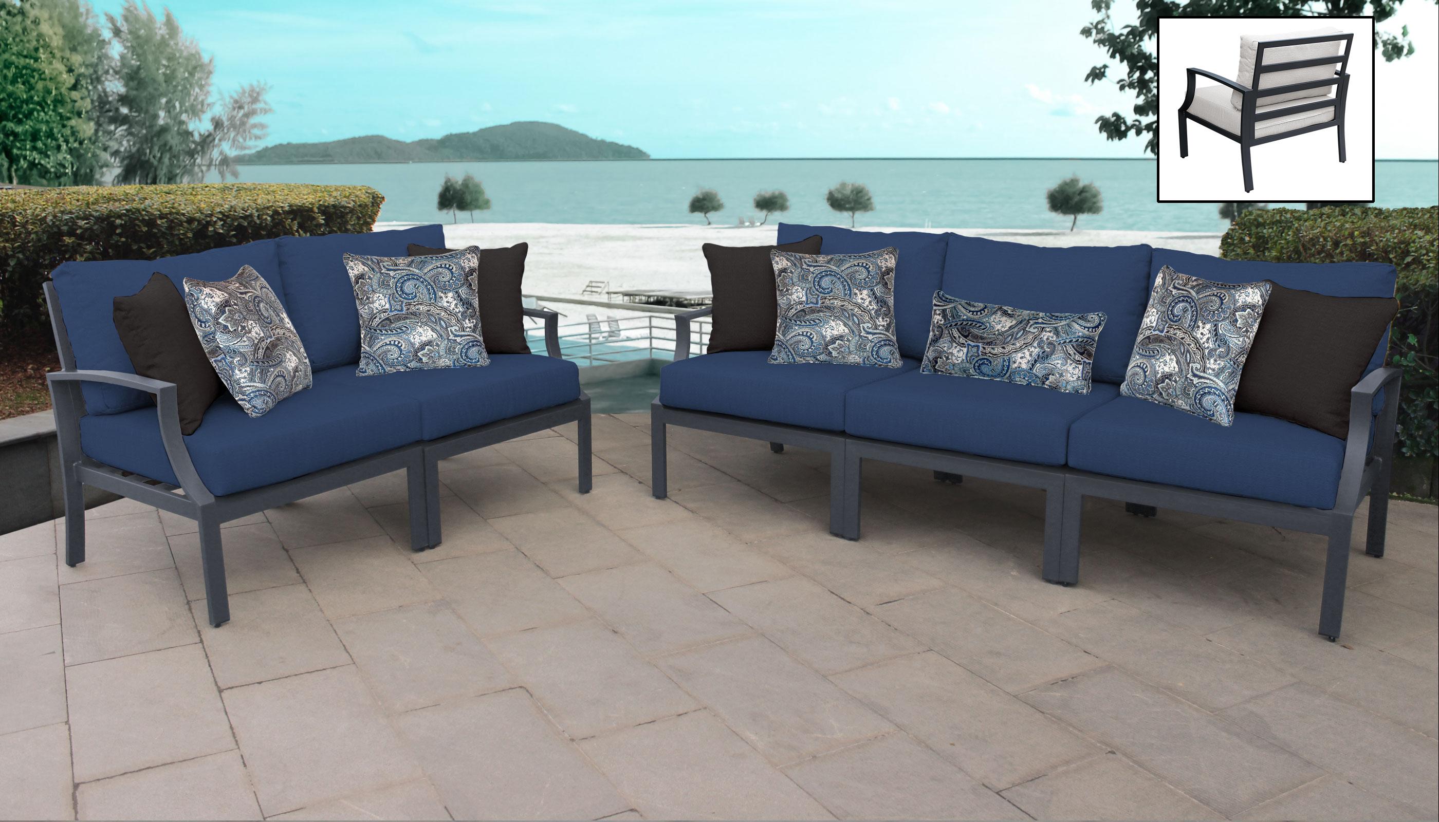 Lexington 5 Piece Outdoor Aluminum Patio Furniture Set 05a - TK Classics