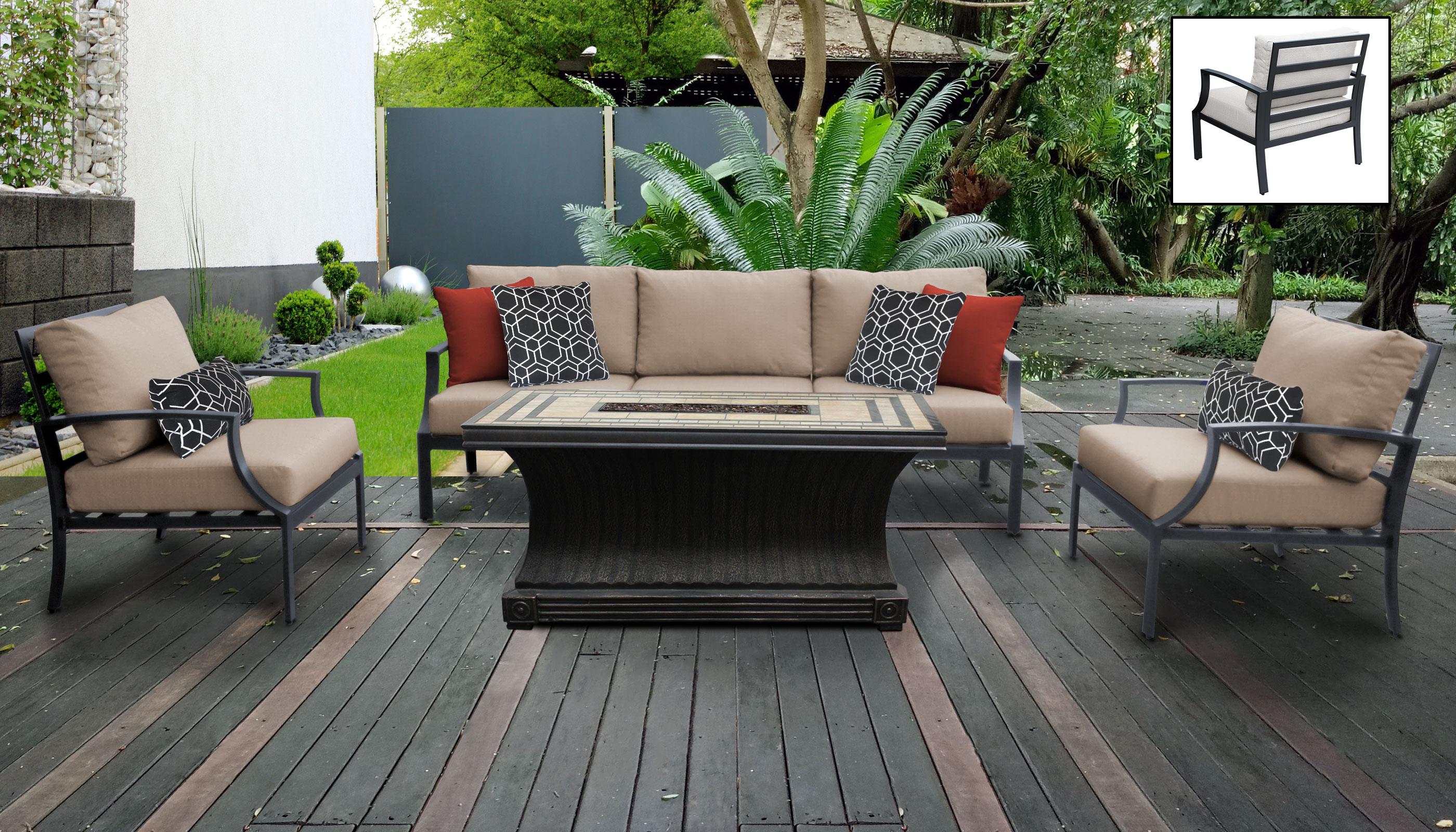 Lexington 6 Piece Outdoor Aluminum Patio Furniture Set 06t