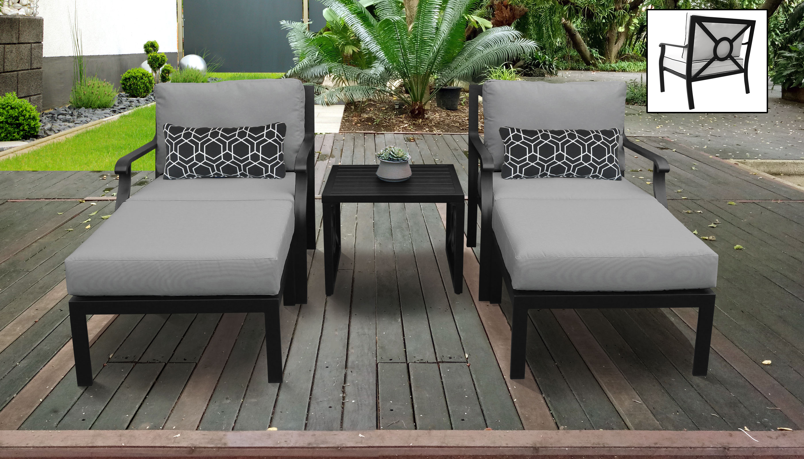 Kathy Ireland Homes Gardens Madison Ave 5 Piece Outdoor