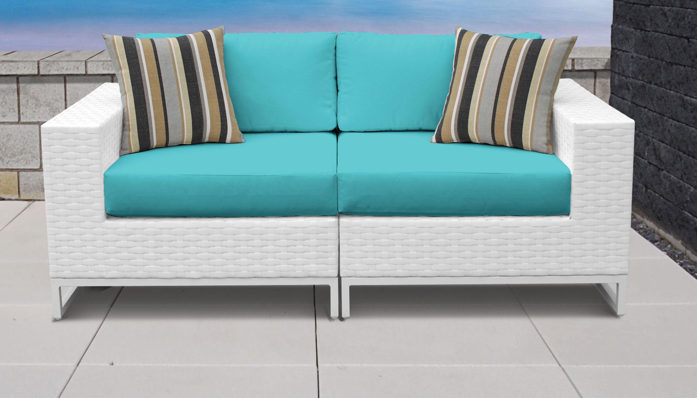 TK Classics  Miami  Piece Outdoor Wicker Patio Furniture Set A - Miami outdoor furniture