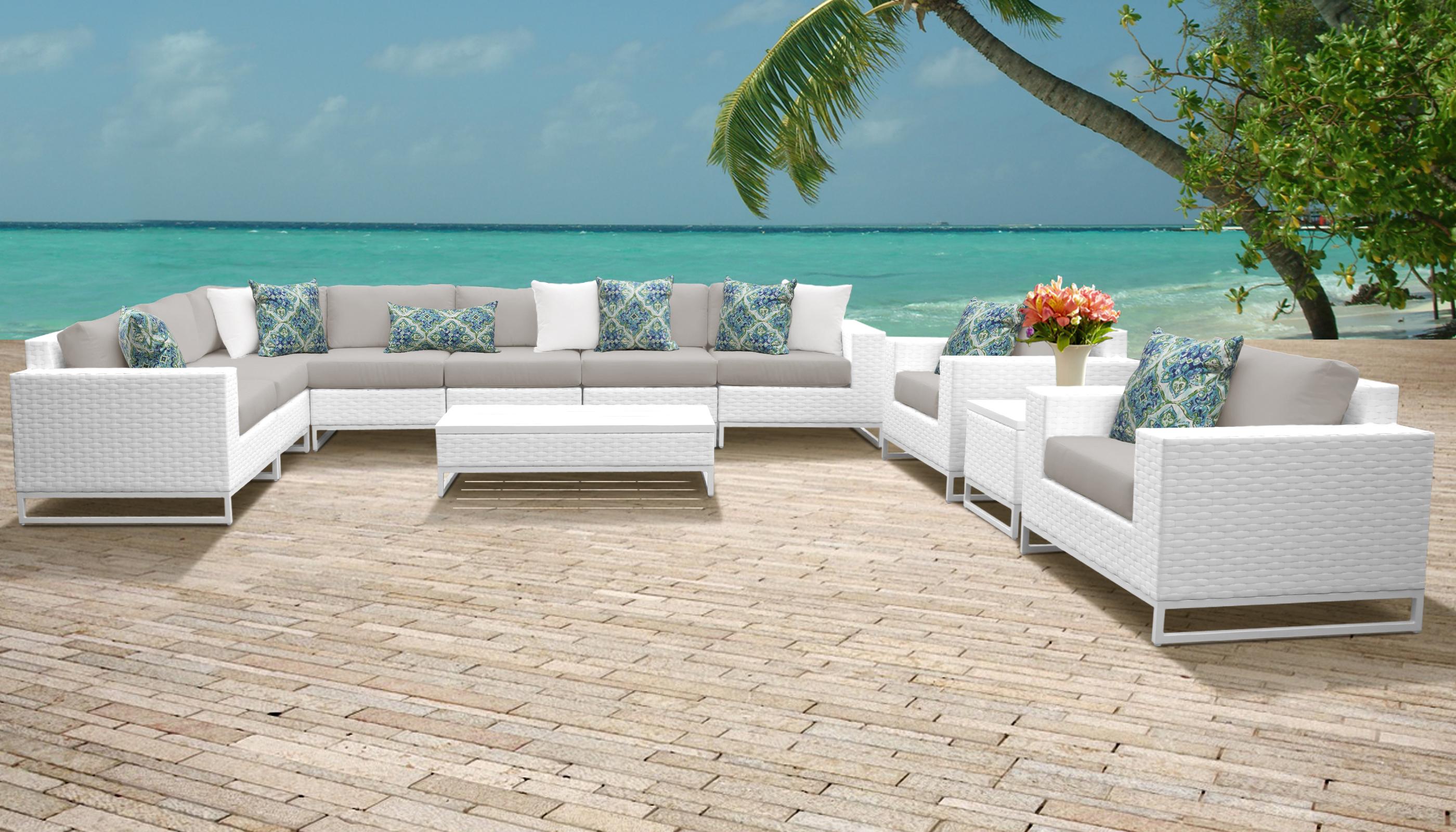 Miami 11 Piece Outdoor Wicker Patio Furniture Set 11a