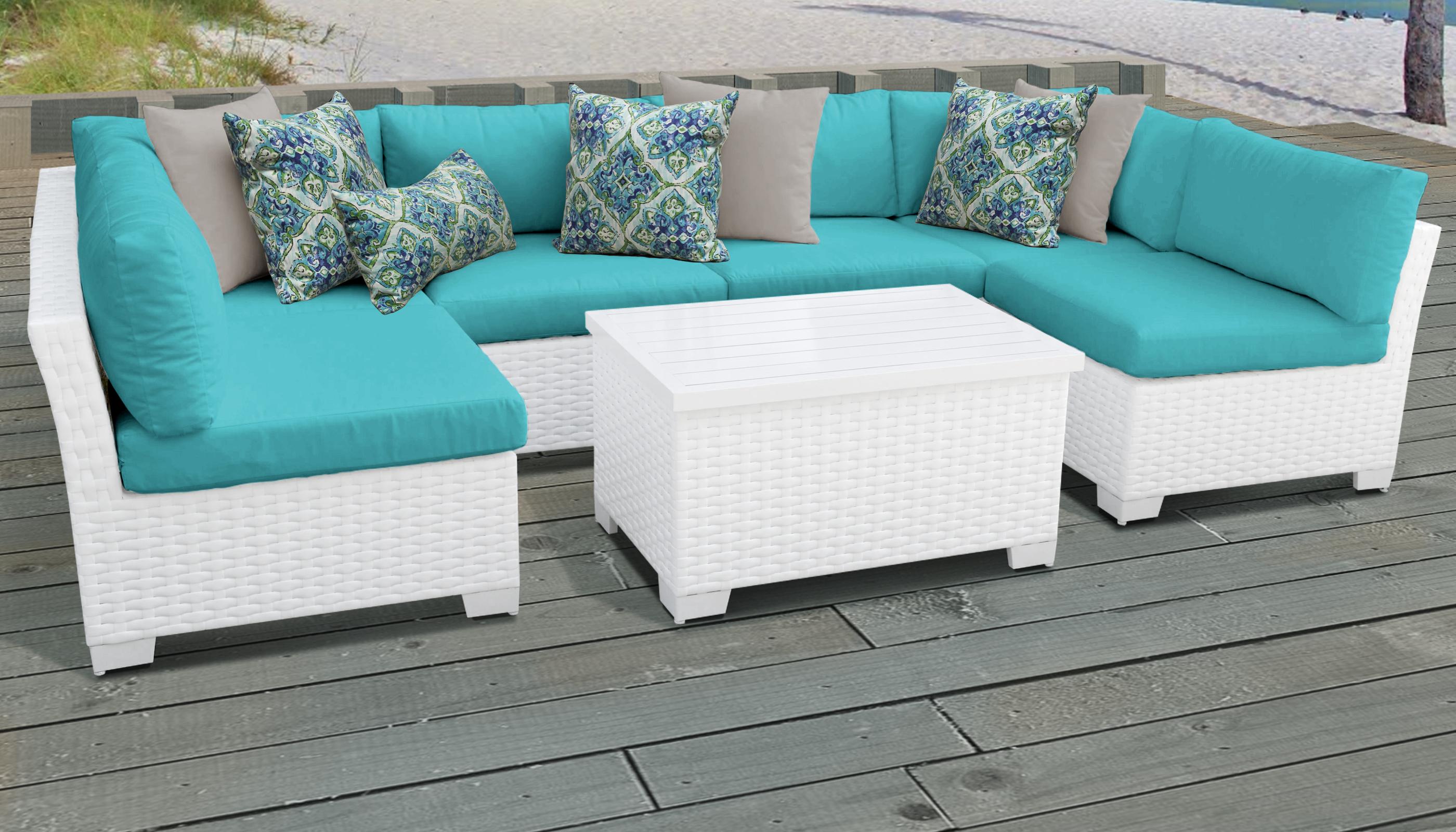 Monaco 7 Piece Outdoor Wicker Patio Furniture Set 07a -