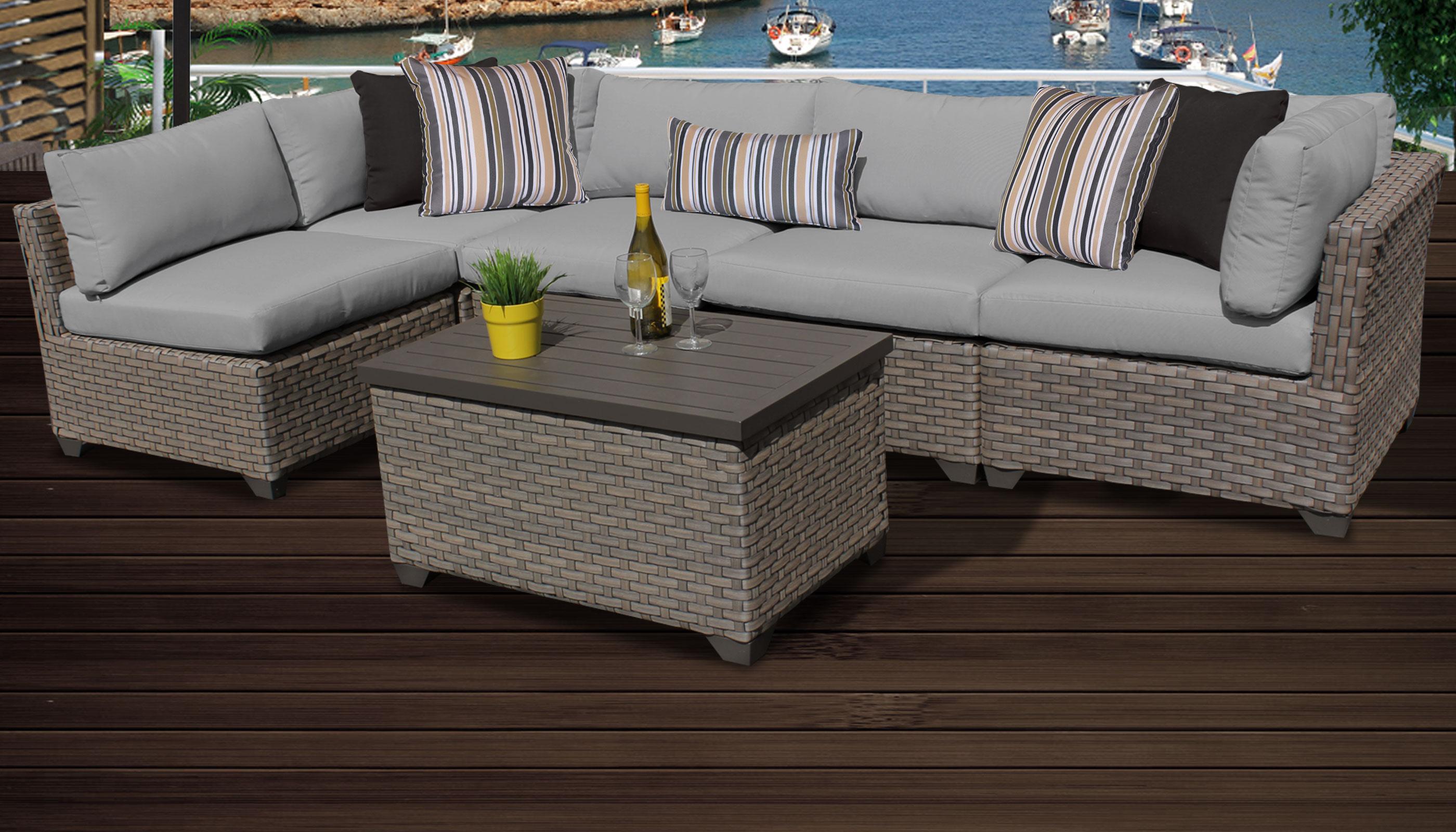 Monterey 6 Piece Outdoor Wicker Patio Furniture Set 06a
