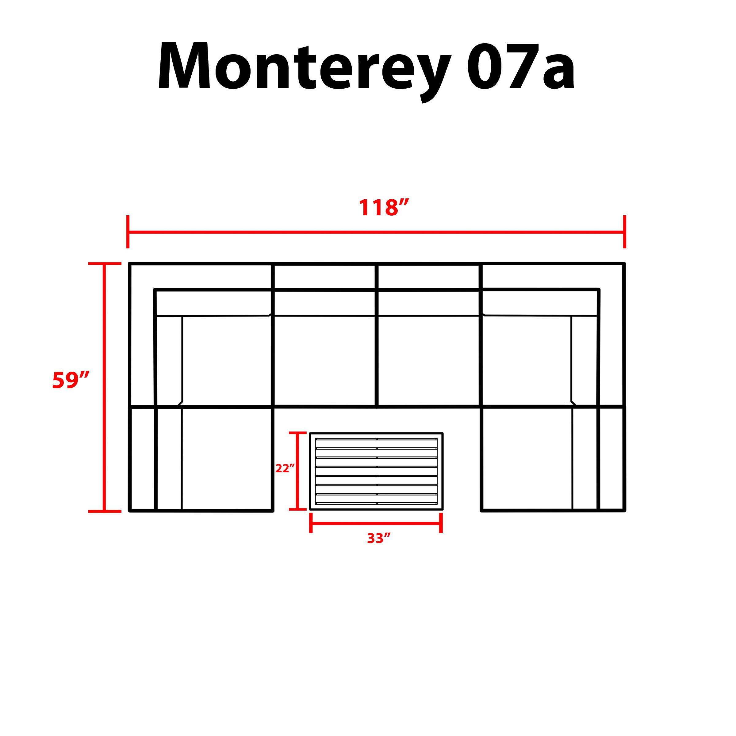 Monterey 7 Piece Outdoor Wicker Patio Furniture Set 07a -
