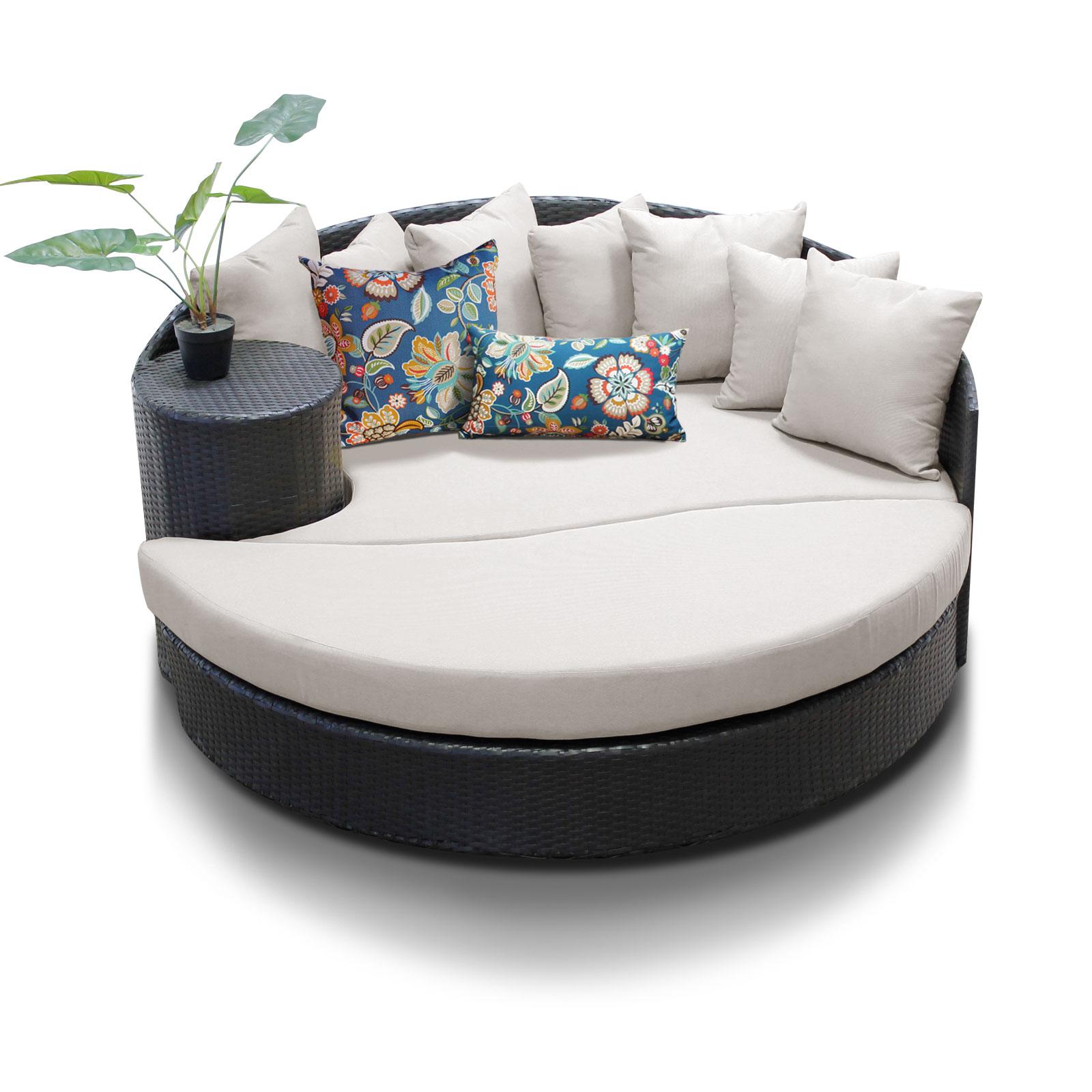 classics newport circular sun bed outdoor wicker patio furniture