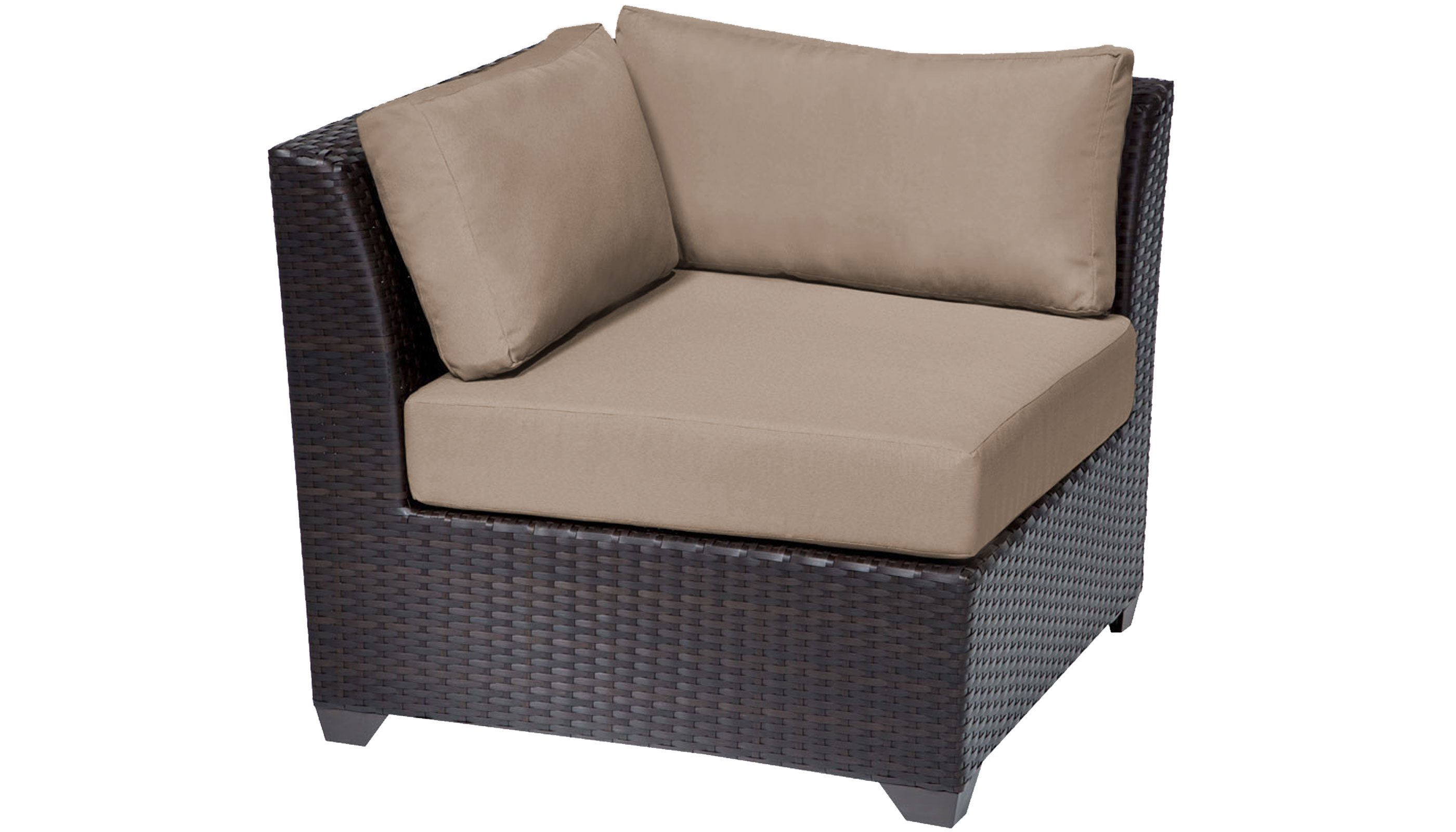 Barbados 2 Piece Outdoor Wicker Patio Furniture Set 02a - TK Classics