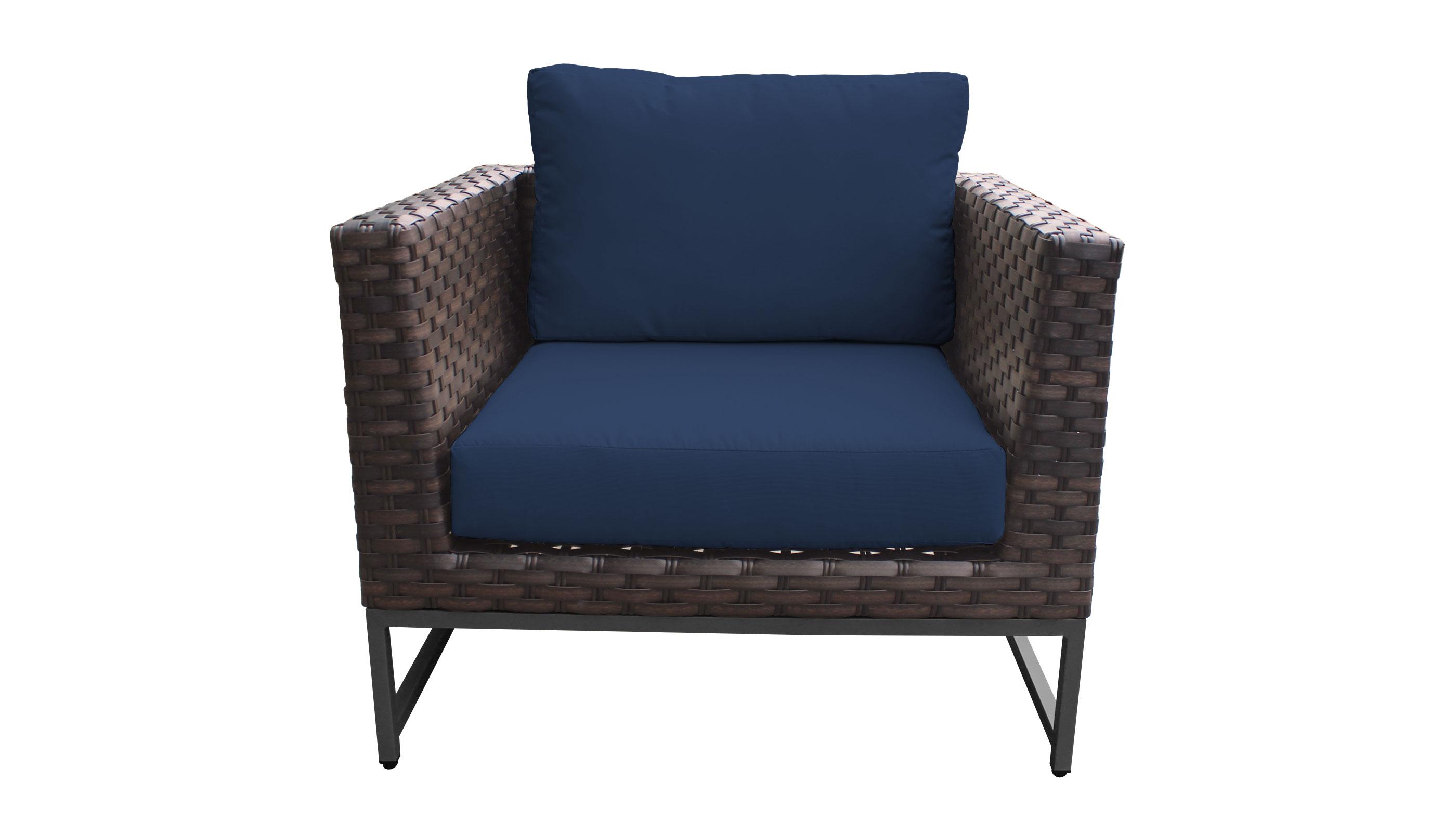 Barcelona 3 Piece Outdoor Wicker Patio Furniture Set 03a - TK Classics