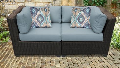 Barbados 2 Piece Outdoor Wicker Patio Furniture Set 02a - TK Classics