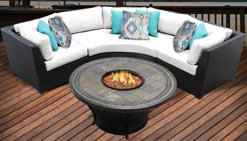 Barbados 4 Piece Outdoor Wicker Patio Furniture Set 04d - TK Classics