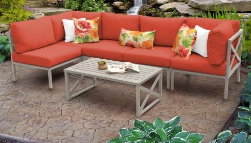 Carlisle 6 Piece Outdoor Aluminum Patio Furniture Set 06a