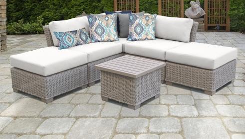 Coast 6 Piece Outdoor Wicker Patio Furniture Set 06f - TK Classics