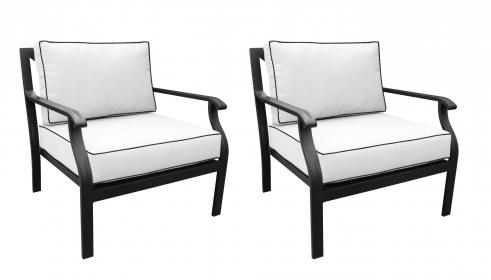 kathy ireland Madison Ave. Club Chair 2 Per Box - TK Classics