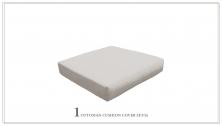 6 inch High Back Cushion for Ottoman - TK Classics
