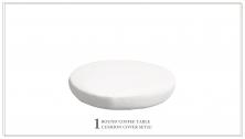 6 inch High Back Cushion for Round Ottoman - TK Classics
