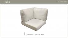 6 inch High Back Cushions for Corner Chairs - TK Classics