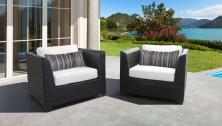 Barbados 2 Piece Outdoor Wicker Patio Furniture Set 02b - TK Classics