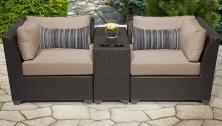 Barbados 3 Piece Outdoor Wicker Patio Furniture Set 03b - TK Classics
