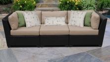 Barbados 3 Piece Outdoor Wicker Patio Furniture Set 03c - TK Classics