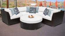 Barbados 4 Piece Outdoor Wicker Patio Furniture Set 04a - TK Classics