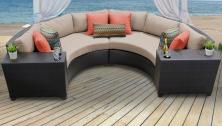 Barbados 4 Piece Outdoor Wicker Patio Furniture Set 04c - TK Classics