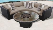 Barbados 4 Piece Outdoor Wicker Patio Furniture Set 04h - TK Classics