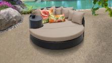 Barbados Circular Sun Bed - Outdoor Wicker Patio Furniture - TK Classics