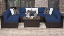 Belle 7 Piece Outdoor Wicker Patio Furniture Set 07a - TK Classics