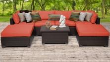 Belle 7 Piece Outdoor Wicker Patio Furniture Set 07b - TK Classics