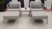 Carlisle 5 Piece Outdoor Wicker Patio Furniture Set 05a - TK Classics