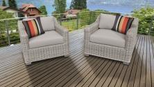 Coast 2 Piece Outdoor Wicker Patio Furniture Set 02b - TK Classics