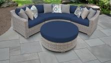 Coast 4 Piece Outdoor Wicker Patio Furniture Set 04a - TK Classics