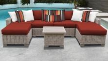 Coast 7 Piece Outdoor Wicker Patio Furniture Set 07a - TK Classics