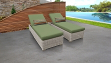 Coast Chaise Set of 2 Outdoor Wicker Patio Furniture - TK Classics