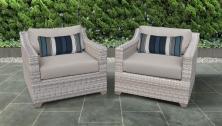 Fairmont 2 Piece Outdoor Wicker Patio Furniture Set 02b - TK Classics